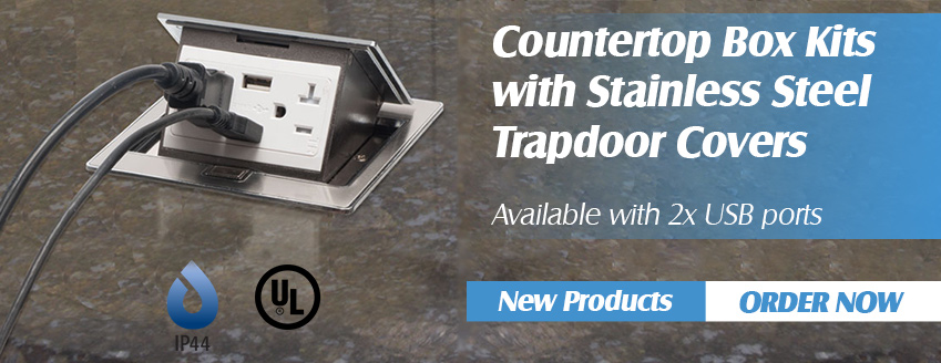 Countertop pop-up power receptacle