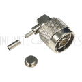 CN-04-100 N-Type Right Angle Male Crimp Connector for RG174 (LMR-100) 50 Ohm - Infinite Cables