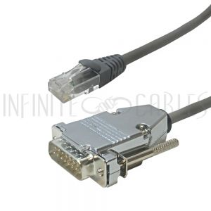 T1 Shielded RJ48C to DB15 Male Cross-Over