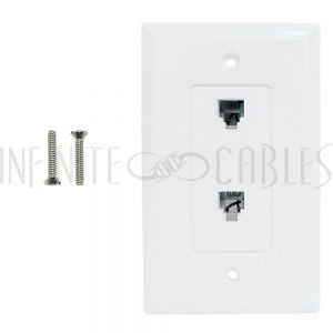 Telephone/TV Wall Plate Kits
