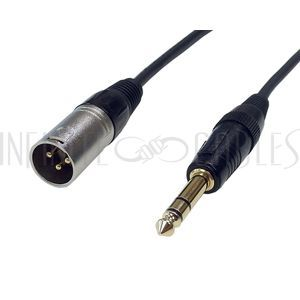 XLR Male to TRS Male Cables - Premium