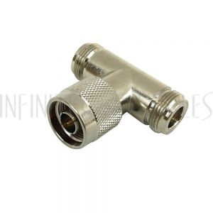 AD-00-MFF N-Type Male to 2 x N-Type Female Adapter Tee Adapter - Infinite Cables