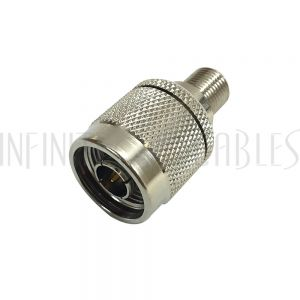 AD-00F1 N-Type Male to F-Type Female Adapter - Infinite Cables