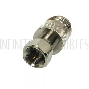 AD-01F0 N-Type Female to F-Type Male Adapter - Infinite Cables