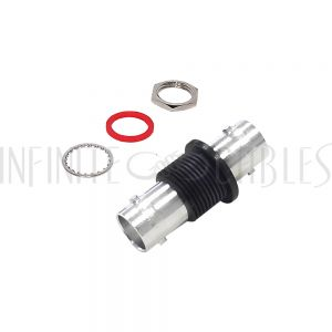 AD-3131-75 BNC Female to BNC Female Adapter - 75 Ohm Bulkhead - Insulated Ground - Infinite Cables