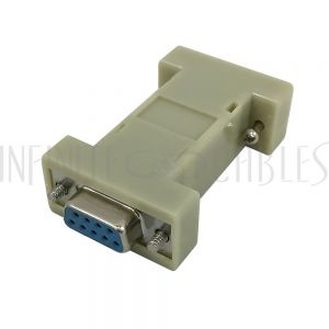 AD-DB9N-2 DB9 Null Modem Gender Changer Female to Female - Assembled - Infinite Cables