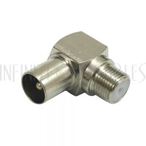 AD-F1P0 F-Type Female to PAL Male - Right Angle Adapter - Infinite Cables