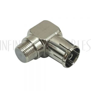 AD-F1P1 F-Type Female to PAL Female - Right Angle Adapter - Infinite Cables