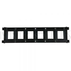 BIX-120-BK BIX 6-port keystone mounting plate - Black