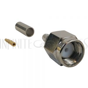 CN-10-100 SMA Male Crimp Connector for RG174 (LMR-100) 50 Ohm