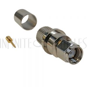 CN-10-400 SMA Male Crimp Connector for RG8 (LMR-400) 50 Ohm - Infinite Cables