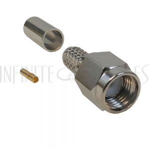 CN-12-195 SMA Reverse Polarity Male Crimp Connector for RG58 (LMR-195) 50 Ohm - Infinite Cables