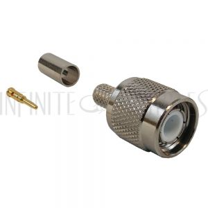 CN-20-200 TNC Male Crimp Connector for LMR-200 50 Ohm - Infinite Cables