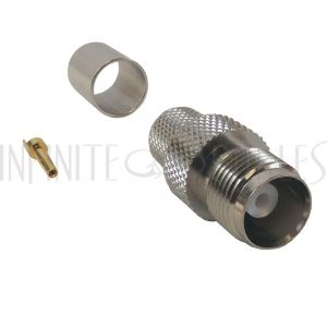 CN-21-400 TNC Female Crimp Connector for RG8 (LMR-400) 50 Ohm - Infinite Cables