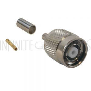 CN-22-195 TNC Reverse Polarity Male Crimp Connector for RG58 (LMR-195) 50 Ohm