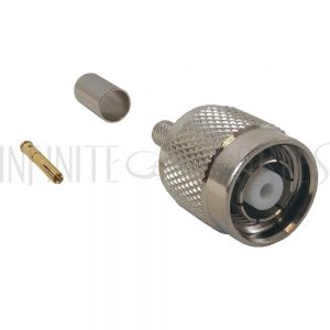 CN-22-240 TNC Reverse Polarity Male Crimp Connector for LMR-240 50 Ohm - Infinite Cables