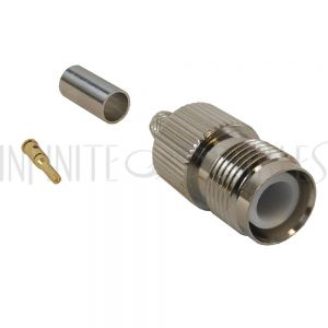 CN-23-195 TNC Reverse Polarity Female Crimp Connector for RG58 (LMR-195) 50 Ohm - Infinite Cables