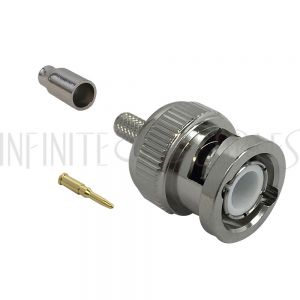 CN-30-100 BNC Male Crimp Connector for RG174 (LMR-100) 50 Ohm