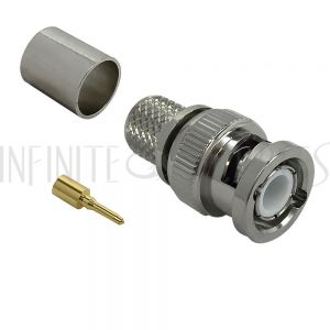 CN-30-400 BNC Male Crimp Connector for RG8 (LMR-400) 50 Ohm - Infinite Cables