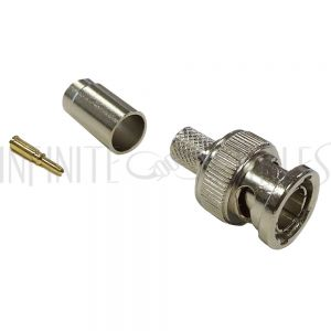 CN-30-RG59P BNC male crimp connector for RG59 plenum cable - Infinite Cables