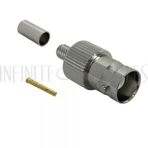 CN-31-195 BNC Female Crimp Connector for RG58 (LMR-195) 50 Ohm
