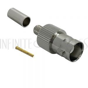 CN-31-240 BNC Female Crimp Connector for LMR-240 50 Ohm - Infinite Cables