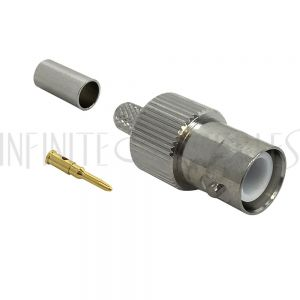 CN-33-195 BNC Reverse Polarity Female Crimp Connector for RG58 (LMR-195) 50 Ohm - Infinite Cables
