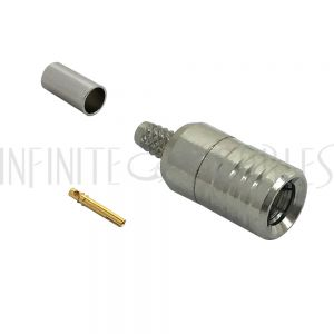 CN-40-100 SMB Male Crimp Connector for RG174 (LMR-100) 50 Ohm