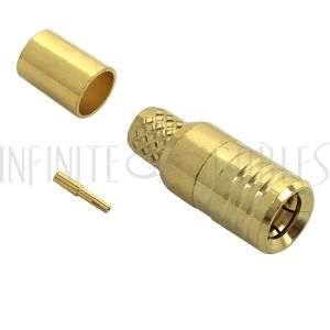 CN-40-195 SMB Male Crimp Connector for RG58 (LMR-195) 50 Ohm