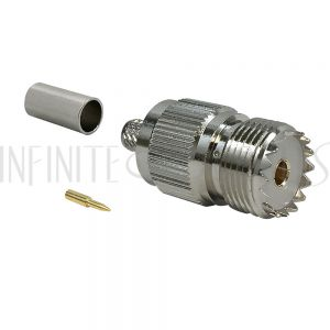 UHF Female Crimp Connector for LMR-240 50 Ohm