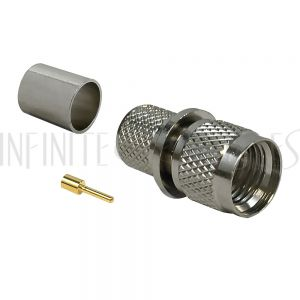 CN-60-400 Mini-UHF Male Crimp Connector for RG8 (LMR-400) 50 Ohm - Infinite Cables