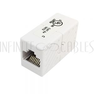 CN-C5E-FF RJ45 Inline Coupler Cat 5e - White
