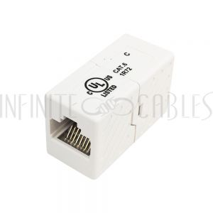 CN-C6-FF RJ45 Inline Coupler Cat 6 - White - Infinite Cables