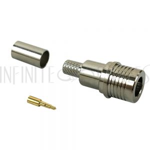 CN-QMA0-195 QMA Male Crimp Connector for RG58 (LMR-195) 50 Ohm - Infinite Cables