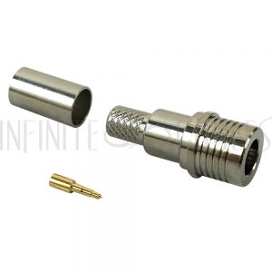 QMA Male Crimp Connector for LMR-240 50 Ohm