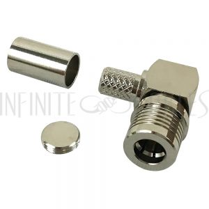 CN-QMA4-240 QMA Male Right Angle Crimp Connector for LMR-240 50 Ohm