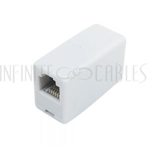 CN-RJ12-FF RJ12 Female to Female Coupler - White - Infinite Cables