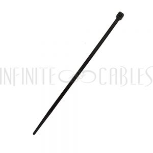 CT-104-100BK 100pk 4 inch cable tie (18lb) - UV & weather resistant nylon 66 - Black - Infinite Cables