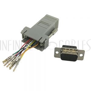 RJ45 Female to DB9 Male Modular Adapter