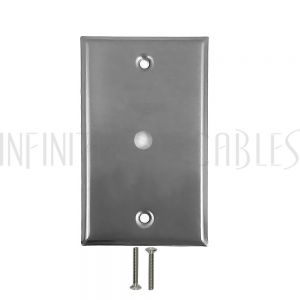WP-1H-SS Wall Plate, 1 Hole, Stainless Steel - Infinite Cables