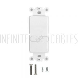WP-D-WH Decora Strap, Blank - White - Infinite Cables
