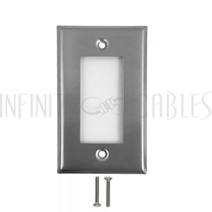 WP-D1-SS Decora Single Gang Wall Plate - Stainless Steel - Infinite Cables