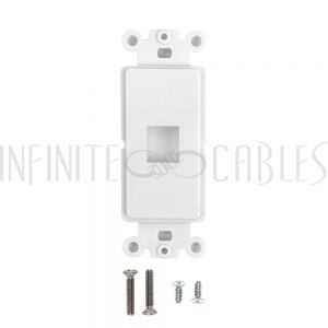 WP-D1P-WH Decora Strap 1-Port Keystone - White - Infinite Cables