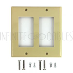 WP-D2-IV Decora Double Gang Wall Plate - Ivory