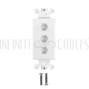 WP-D3H-WH Decora Strap 3-Hole - White - Infinite Cables