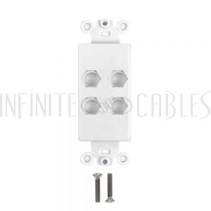 WP-D4H-WH Decora Strap 4-Hole - White - Infinite Cables