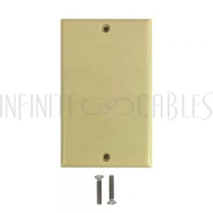 WP-IV Wall Plate, Solid - Ivory - Infinite Cables