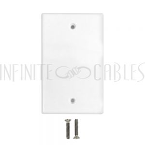 WP-WH Wall Plate, Solid - White - Infinite Cables