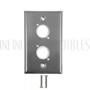 WP-XLR2-SS 2-Port XLR Stainless Steel Wall Plate