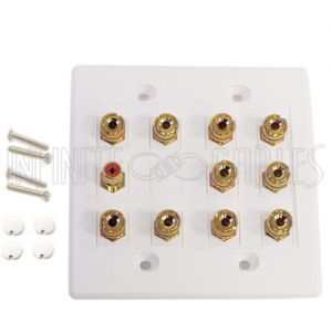 WPK-BAN5.1 5.1 Surround Sound Wall Plate Kit - White - Infinite Cables